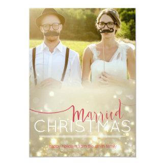 Carte de Noël : Noël marié - photo faite sur