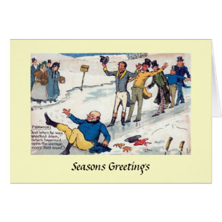 Carte de Noël - papiers de Pickwick