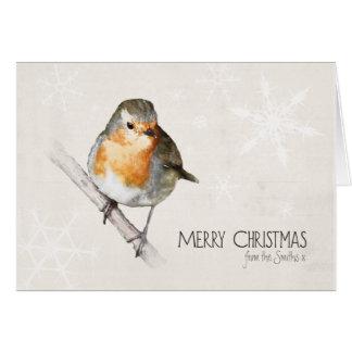 Carte de Noël personnalisée de Robin