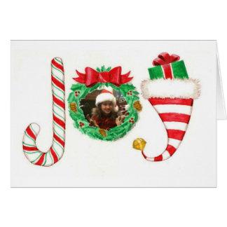 Carte de Noël personnalisée par joie de photo