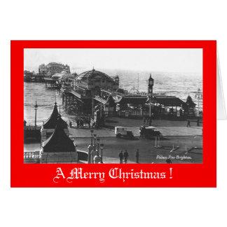 Carte de Noël, pilier de Brighton