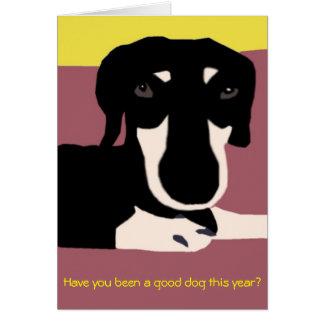 Carte de Noël - pour de bons chiens seulement