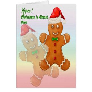 Carte de Noël pour des enfants avec des bonhommes
