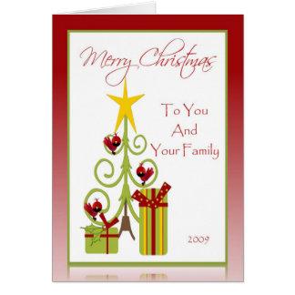 Carte de Noël pour la famille, amis, collègues