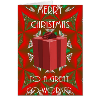 Carte de Noël pour le collègue