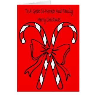Carte de Noël pour le collègue et la famille
