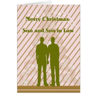 Carte de Noël pour le fils et le beau-fils
