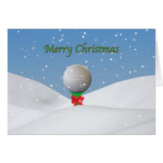 Carte de Noël pour le golfeur