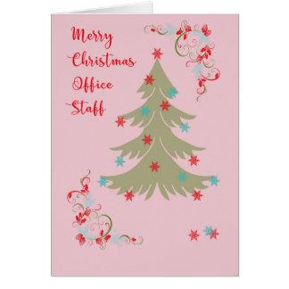Carte de Noël pour le personnel