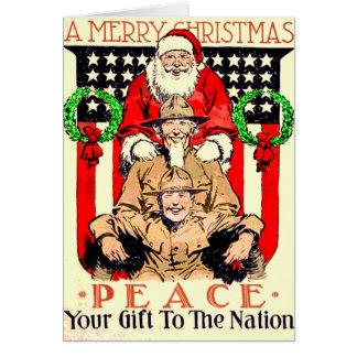 Carte de Noël pour quelqu'un dans les militaires