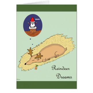 Carte de Noël -- Rêves de renne