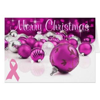 Carte de Noël rose