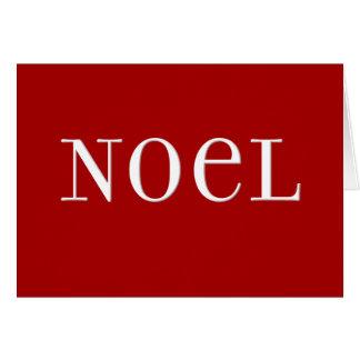 Carte de Noël rouge de Noel