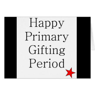 Carte de Noël sarcastique de période primaire de