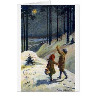 Carte de Noël suédoise