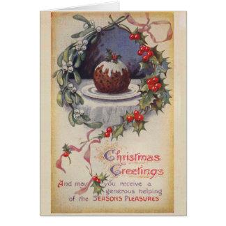 Carte de Noël victorienne de pudding de Figgy