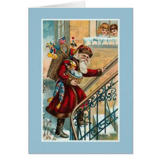 """Carte de Noël vintage "" Carte De Vœux"