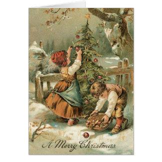 Carte de Noël vintage - carte très douce