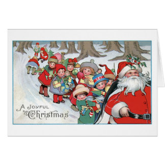 Carte de Noël vintage - Noël joyeux