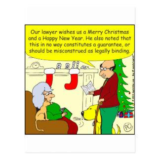 carte de Noël x08 de notre avocat - bande dessinée