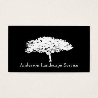Carte de noir de retrait d'arbre de paysage