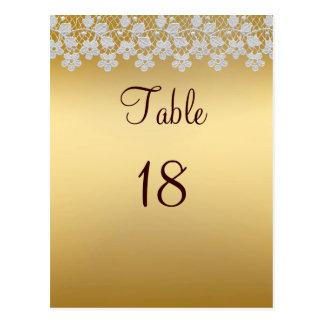 Carte de nombre de Tableau d'or et de mariage de