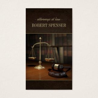 Carte de notaire d'échelle de justice d'avocats