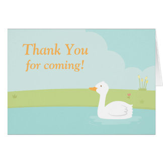 Carte de note blanche de Merci de partie de canard