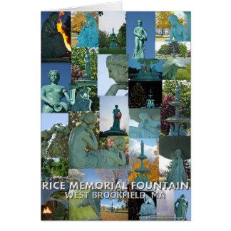 Carte de note commémorative de collage de fontaine