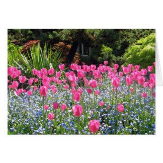 Carte de note d'amitié de tulipe