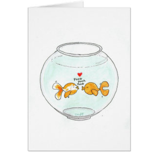 Carte de note d'amour de Fishie