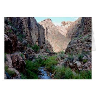 Carte de note de canyon grand