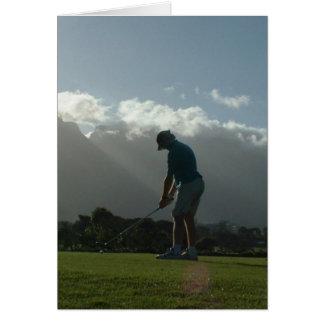 Carte de note de conception de golfeur