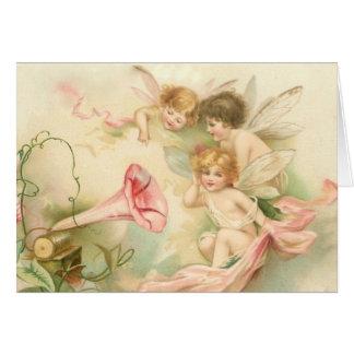 Carte de note de fées de bébé