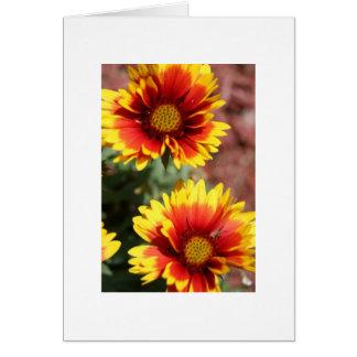 Carte de note de fleur couvrante