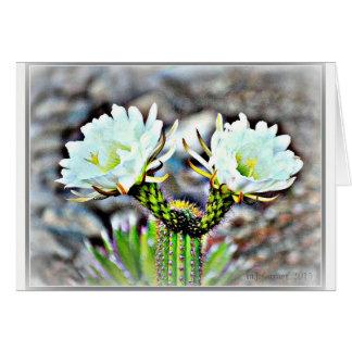 Carte de note de fleur de cactus