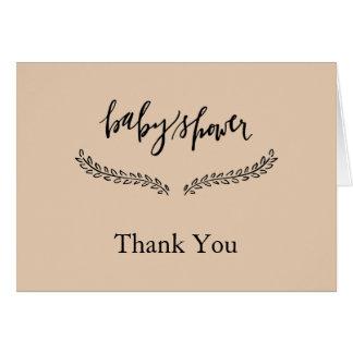 Carte de note de Merci de baby shower