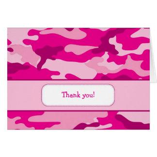 Carte de note de Merci de camouflage de roses