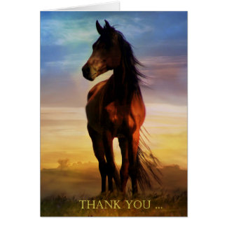 Carte de note de Merci de cheval