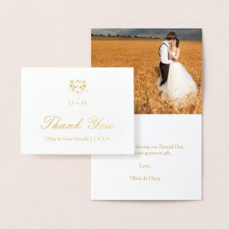 Carte de note de Merci de mariage damassé