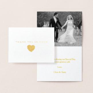 Carte de note de Merci de mariage de coeur de