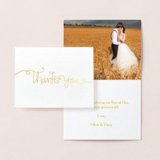 Carte de note de Merci de mariage de manuscrit de