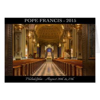Carte de note de pape Francis Visits Philadelphie