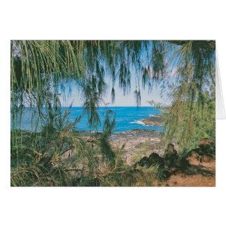 Carte de note de parc de Kauai