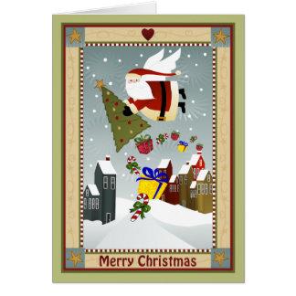 Carte de note de Père Noël de pays