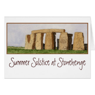 Carte de note de Stonehenge