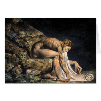 Carte de note de William Blake Isaac Newton