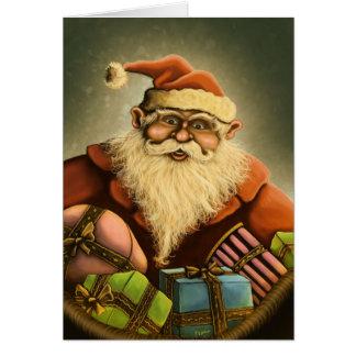 carte de note des cadeaux de père Noël