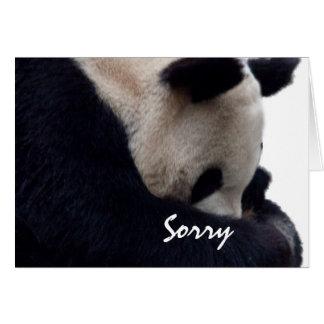 Carte de note désolée de panda