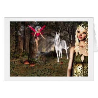 carte de note d'imaginaire d'elfe